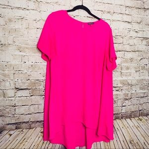 Vince Camuto 1X Hot Pink Tunic